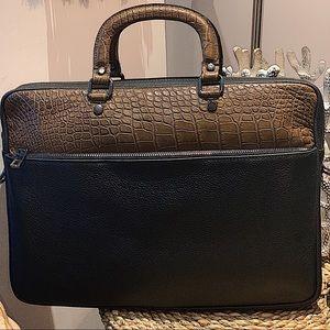 Other - Crocodile Laptop Satchel Briefcase